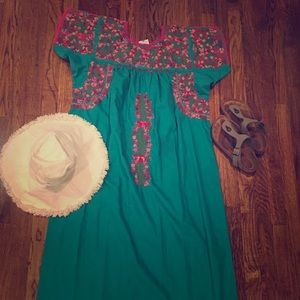 Dresses & Skirts - Authentic Mexican Maxie (Embroidered) Dress